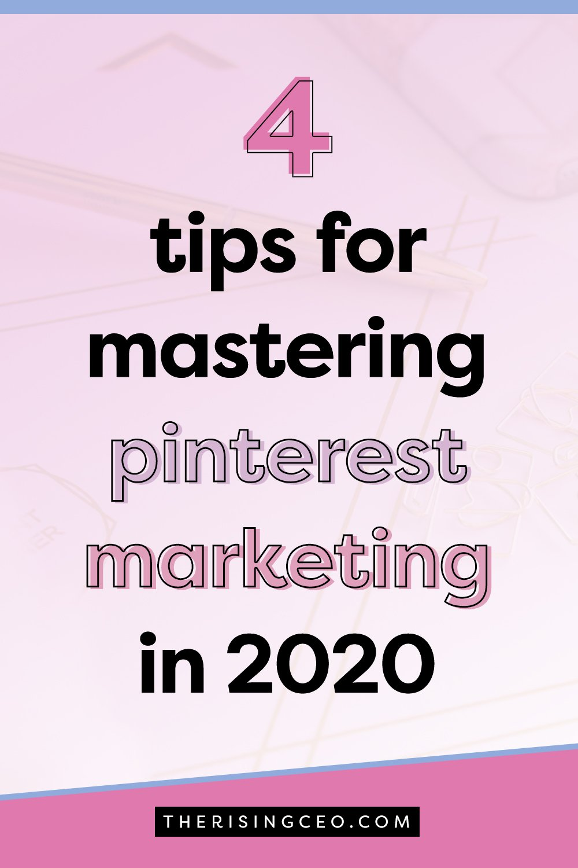 pinterest marketing in 2020